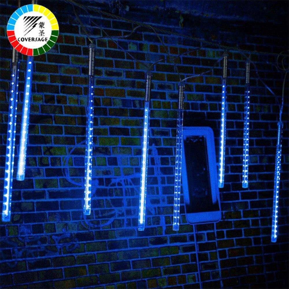 Coversage <font><b>LED</b></font> 30 см 50 см Метеоритный дождь Дождь трубки гирлянды Новогодние товары Дерево Luces Navidad декоративные <font><b>Xmas</b></font> Открытый гирлянды строка