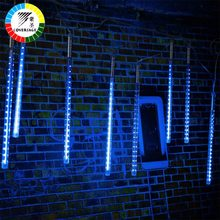 Coversage Led 30CM 50CM Meteor Shower Rain Tube Garland Christmas Tree Luces Navidad Decorative Xmas Outdoor Fairy Lights String(China)