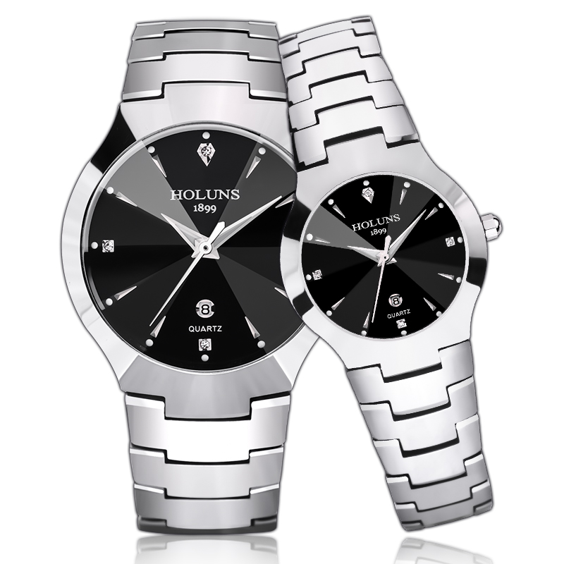 relogio masculino 2018 HOLUNS tungsten steel men watch quartz brand luxury casual diamond male wrist watch dress 5ATM waterproof цена