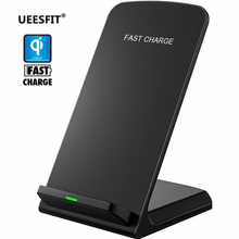 UEESFIT Qi Wireless Charger For iPhone X XS 8 For Samsung Note 8 S9 S8 Plus Xiaomi mix 2s Fast Wireless Charging Dock Station xiaomi wireless charger for xiaomi mix 2s samsung s9 iphone x qi wireless quick charging smart compatible for mobile phones