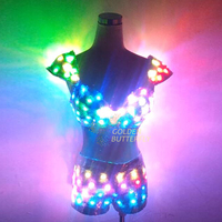 Sexy bikini DJ dress LED Clothing Glowing Dress Fashion Luminous Headdress Talent Show Women LED Clothes Ballroom Mechanical Dan