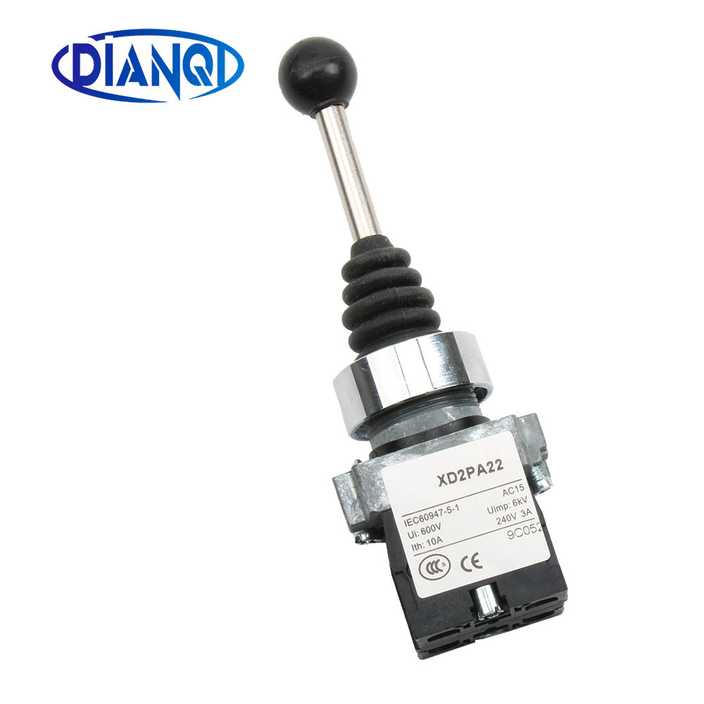 XB2 PA22 xd2-pa22 xb2-pa22 2NO 2 positions spring return Cross push button switch Momentary self-Reset Joystick Switch(China)