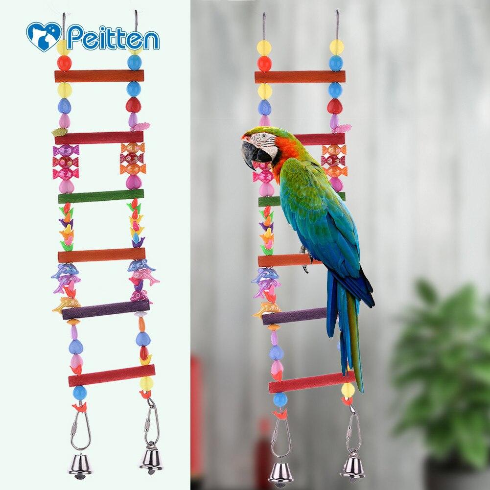 Pet Products Honey 1pc Parrot Toys Parrot Climbing Net Hanging Ladder Bridge Macaw Cage Chew Decoration Bird Toys Pet Supplies Home & Garden
