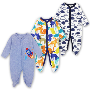 Image 5 - 3 Pack Baby Girls Boy Clothes Newborn Pajamas Toddler Infant Sleepwear 0 12 Months Baby Romper Babies Clothing Set