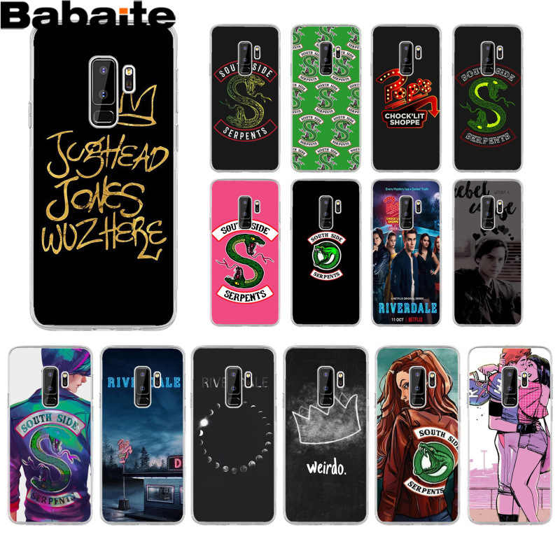 Babaite Riverdale South Side Serpents Black TPU Soft Phone Case for Samsung S9 S9 plus S5 S6 S6edge S6plus S7 S7edge S8 S8plus