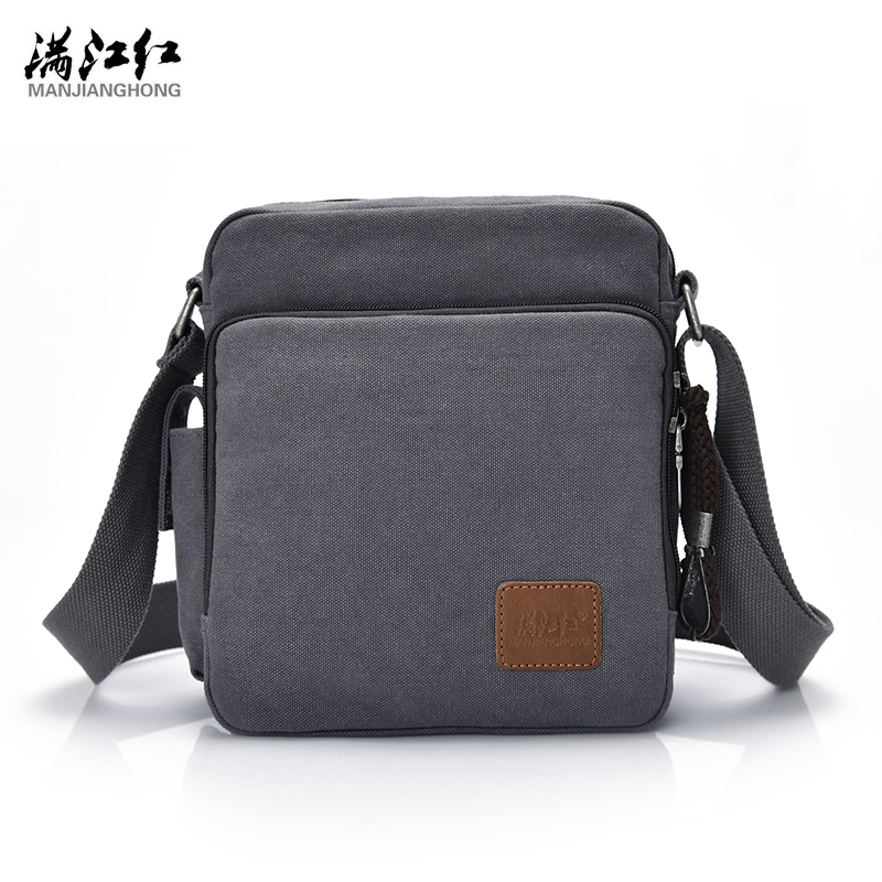 Manjianghong New Fashion Vintage Men Bag Thicken Cotton Canvas Bag Business Casual Crossbody Bag Big Capacity Bag 1092-s