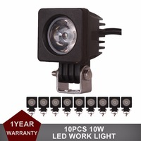10pcs CREE 10W LED Work Light Offroad For Car Auto Truck ATV Motorcycle Trailer Bicycle 4WD