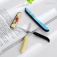1 Pcs Cute Kawaii Novelty Plastic Deli Paper Quality Kids Photo Album Small Mini Scissors Cutting Tools School Supplies