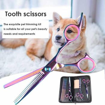 Pet Dogs Hair Scissors Puppy Cat Grooming Hairdressing Cutting Beauty Tools Pet Dog Cat Scissors Kits Hair Trimmer Products