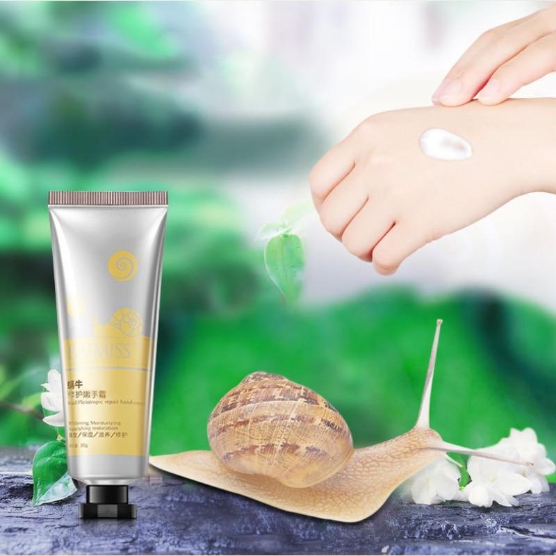 1PC Snail Hand Cream Nourishing Moisturizing Anti Chapping Anti-aging Firming Retention Hand Care Cream