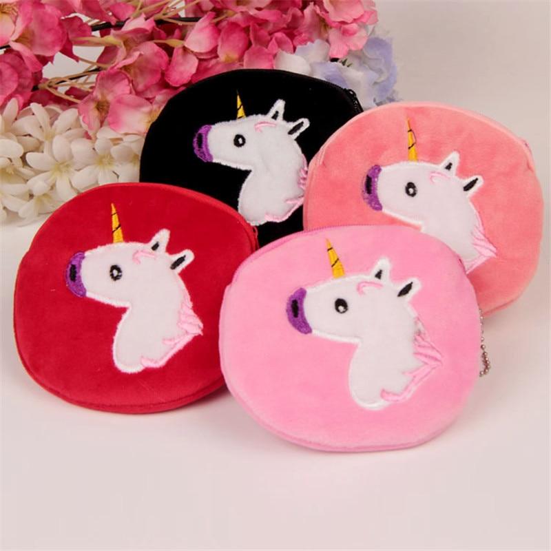 Casual Cartoon Mini Coin Purse Animal Unicorn Kids Girl Wallet Money Bag Baby Girl Children Small Zipper Change Purse Bag