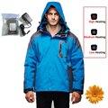 Homens Jaqueta 2-Layer Inverno Esporte ao ar livre Jaquetas de Esqui Acampamento Caminhadas Térmica À Prova de Vento À Prova D' Água 7.4 V Elétrico Aquecido Roupas