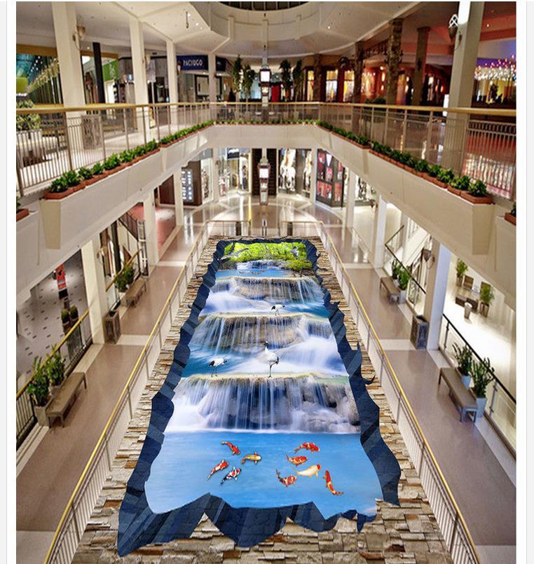 Online Kaufen Großhandel 3d Wasserfall Tapeten Aus China 3d ... 15 Designs Wasserfall Swimming Pool