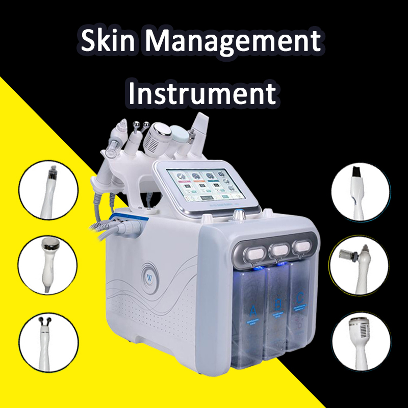 2019 H2 O2 Portable 6 In 1 Hydro Microcurrent Face Tightening Skin Rejuvenation Facial Blackhead Removal Acne  Bio Lifting Spa