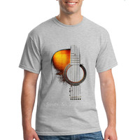 2018 Male Hip Hop Novelty Shirts Men S Brand Clothing T Shirt Acoustic Guitar T Shirts