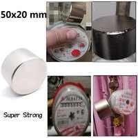 1 stücke 50x20mm Neodym Starke Magnet Super Magnetische Material Stärkste Leistungsstarke Runde Magneten Langsam Unten Wasser Gas meter Imanes