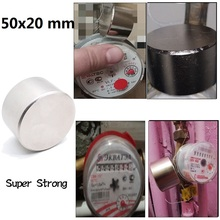1pcs 50x20mm Neodymium Strong Magnet Super Magnetic Material Strongest Powerful Round Magnets Slow Down Water Gas Meter Imanes