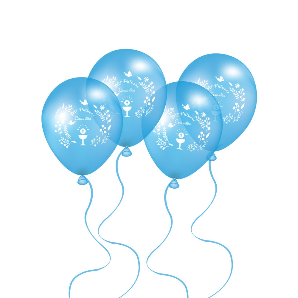 50 pieces 10 inch blue balloons for spanish boys first holy