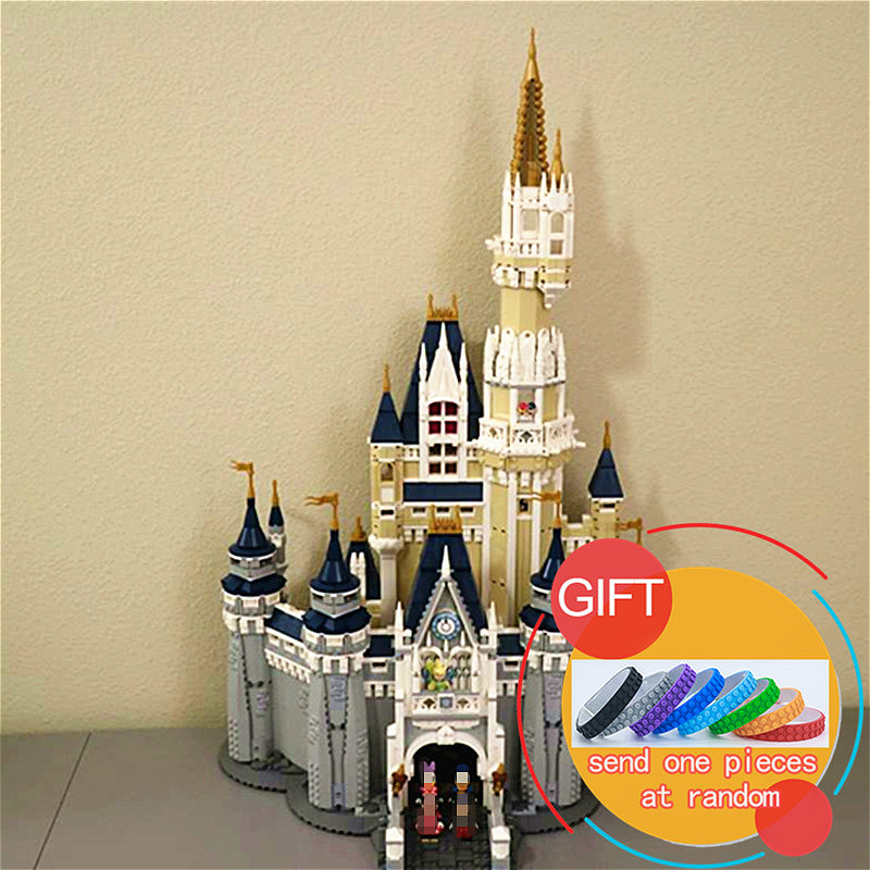 16008 4080pcs Cinderella Princess Castle City Model set Building blocks Kid Gift Compatible with 71040 Toys lepin lepin 16008 creator cinderella princess castle city 4080pcs model building block kid toy gift compatible 71040