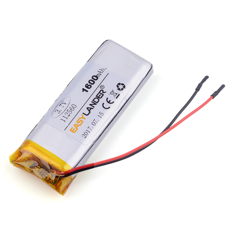 112560 3.7V 1600 mAh lithium polymer battery FOR DVR MP4 MP5 cell phone speaker MP3 power bank Sex toys E-book tablet pc 112459