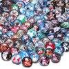 RoyalBeier 50 ピース/ロットクリスマスの要素テーマガラスチャーム 18 ミリメートルスナップボタン 20 ミリメートルスナップブレスレットスナップジュエリー KZHM079