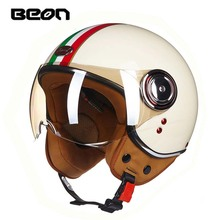 ECE Classic flag BEON B 110B motocross half face Helmet motorcycle MOTO electric bicycle safety headpiece