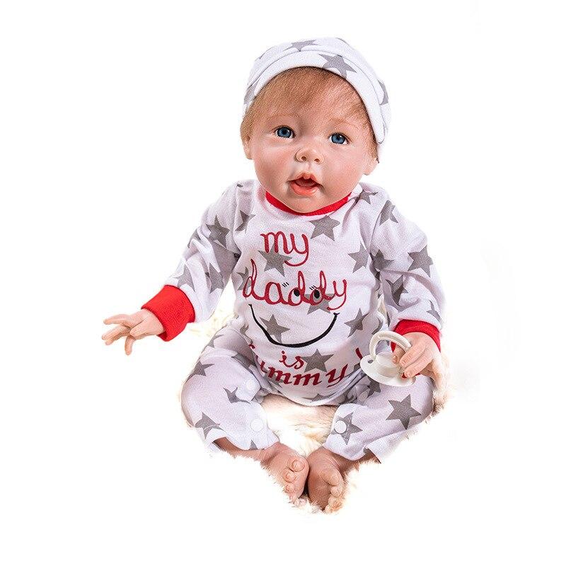лучшая цена 50CM New Handmade Silicone Reborn Baby Adorable Lifelike Toddler Bonecas Girl Kid Menina De Silicone LOL Doll Bebes Reborn Doll