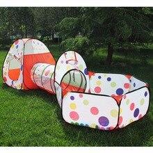 3 pièces/ensemble bébé jouer tente jouets piscine à balles pour enfants océan balle piscine fosse pliable bébé Pipeline ramper jeu maison