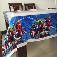 Avengers Superhero tablecloth party supplies 108cm*180cm plastic tablecover 1pc kids boy favor childrens day festival map