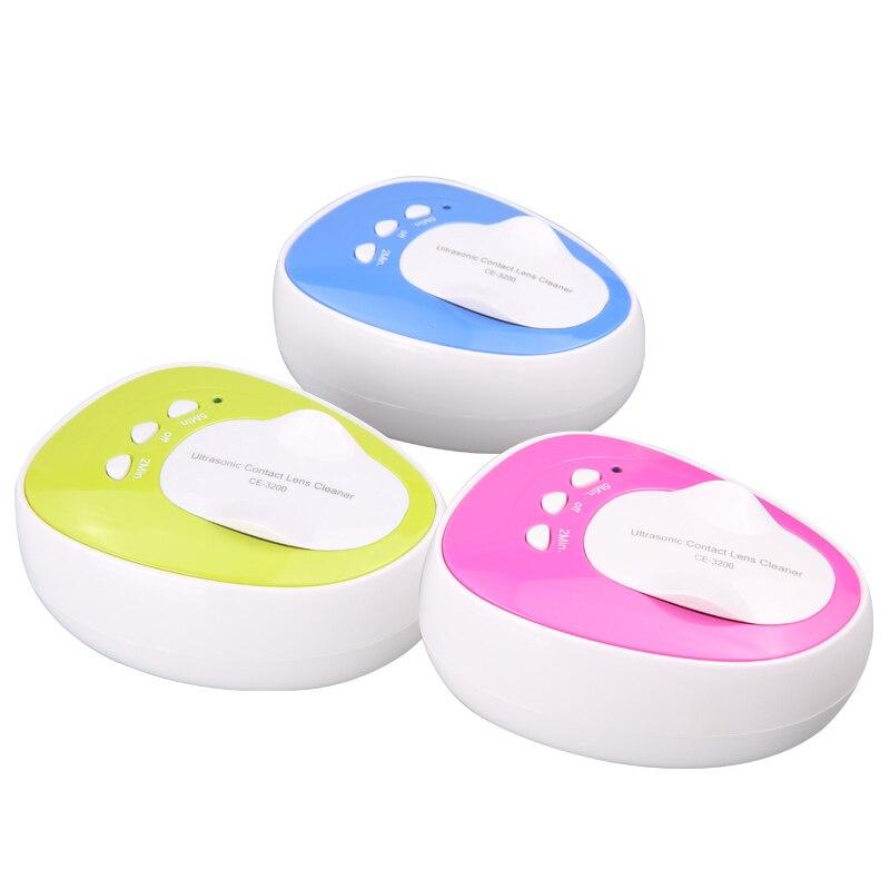 Mini Ultrasonic Cleaner For Contact Lens Colorful Lens Cleaner 110V 240V Ultrasound Contact Lenses Cleaning 46KHz