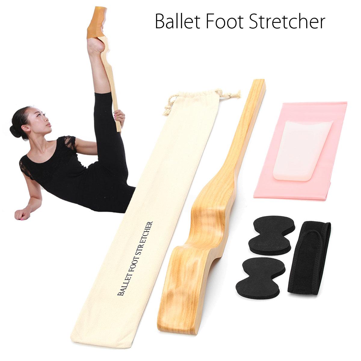 Дерево балетные костюмы Растяжка для ступней для танцора массаж, для женщин леди танцы деревянный Arch Enhancer с натяжением эластичный ремешок д...