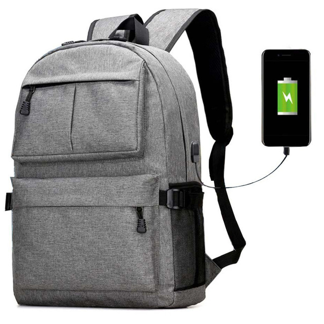 4e9adb52a94 Fashion Light Weight 14-15.6 Inch Laptop Backpack with USB Charging Light  Weight Casual Bags Travel School Backpack Men Women