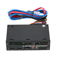 Multi Function USB 3 0 Hub ESATA Port Internal Card Reader Dashboard Media Front Panel Audio