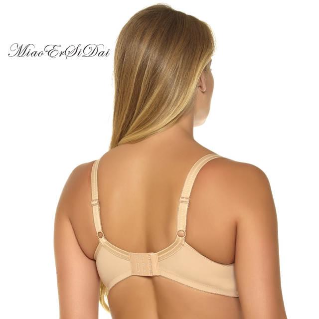 671b56491 placeholder MiaoErSiDai Women Basic Comfort Plus Size Bra Bralette Soutien  Gorge Push Up Bras for Women C D