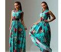 Женщины Африканских Одежды Африканские Традиционные Платья 2017 женская Мода Новый Стиль Печати Элегантные Вечерние Платья Sexy V Воротник