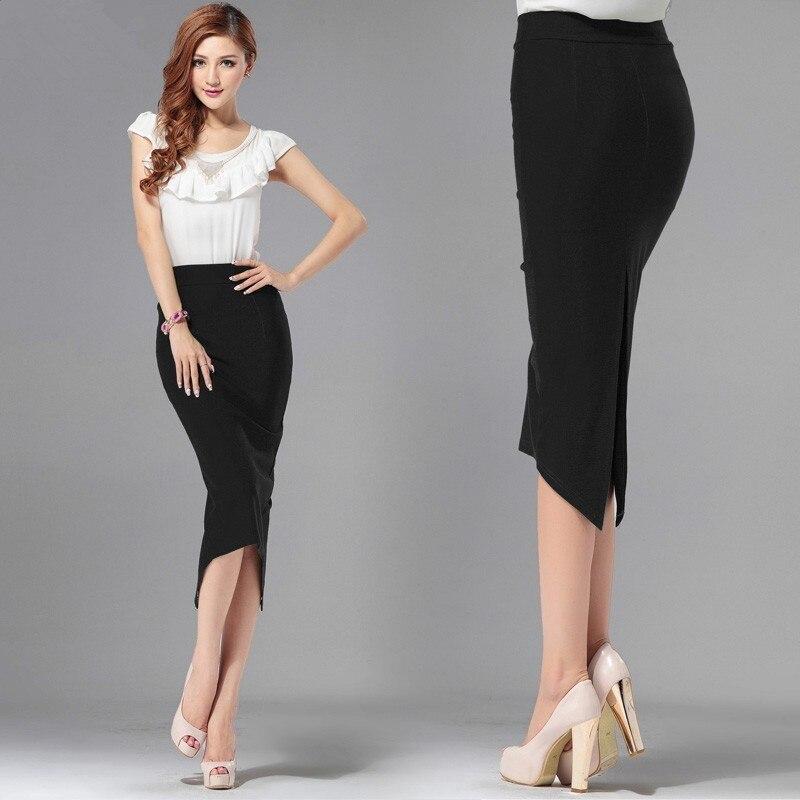 b627f7a468 Detail Feedback Questions about 6XL 7XL Plus Size Women Summer Style Black  Office Midi Skirt Formal Bodycon Pencil Skirts Saias Femininas on  Aliexpress.com ...