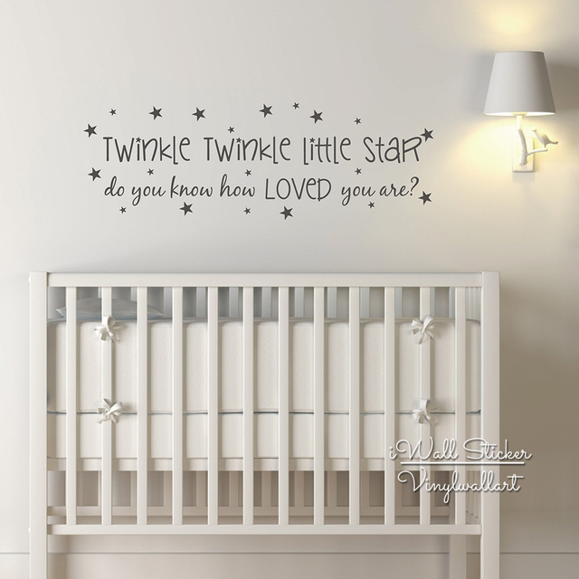 baby nursery quote wall sticker twinkle twinkle little star quote