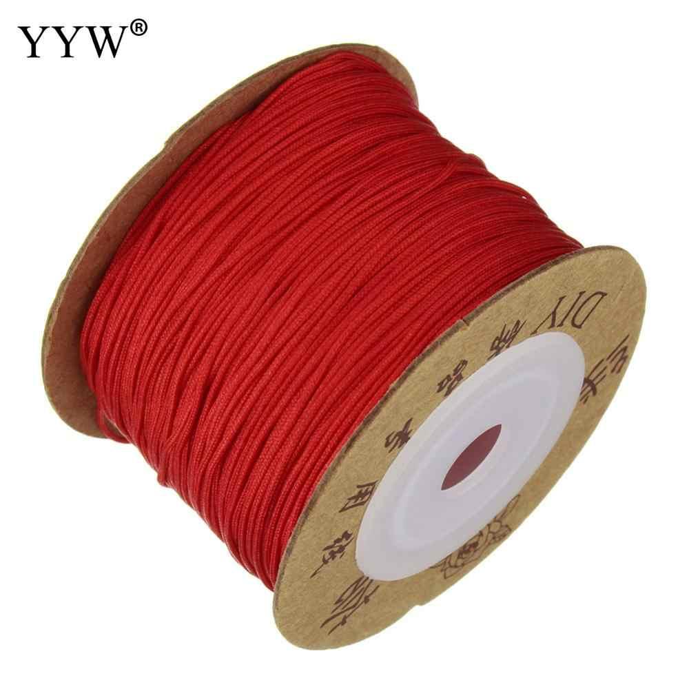 100 m/Spool 0.8 mét Nylon Dây Chủ Đề Dây Nhựa Chuỗi Dây Đeo Dây TỰ LÀM Hạt Vòng Cổ Vòng Tay Làm Đồ Trang Sức 24 màu Nylon Dây