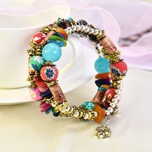 3Pcs/Set 2019 Unisex New Fashion Woman Summer Bracelets Bangles Jewelry Beads Boho Multilayer Beach Wristband pulseras mujer