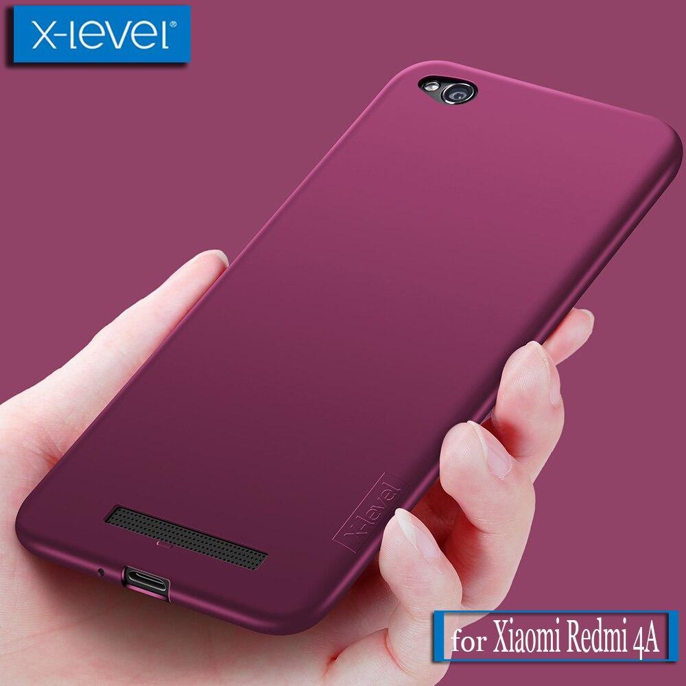 X Level Xiaomi Redmi 4A Case X-Level Guardian Ultra Thin Matte Soft Silicone TPU Phone Back Protective Full Cover for Redmi 4A