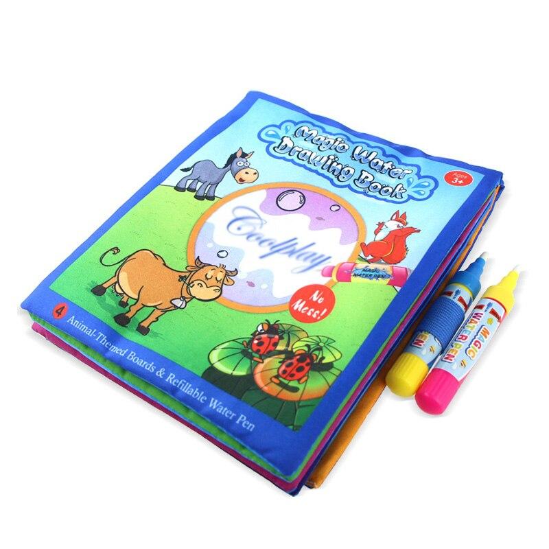 Puzzel Speelgoed Water Tekening Boek Kleurboek Doodle & Magic Pen Schilderen Tekentafel Voor Kinderen Speelgoed Verjaardagscadeau - 2