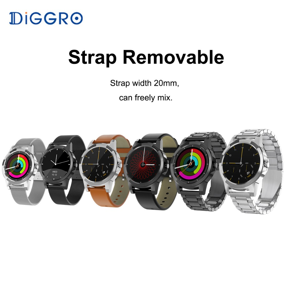 Diggro DI03 Plus Bluetooth Smart watch Fitness Tracker IP67 Waterproof Heart Rate Monitor Pedometer Smartwatch for Android & IOS
