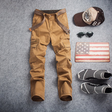 2017 New Men Military Pants Tactical military Men's Cargo Pants Multi-pocket Overalls (No Belt)  V7C1P002