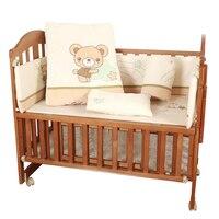 8pcs bedding set includes quilt flannel embroidered crib bedding set with quilt,infant nursery set,baby bedding set bumper