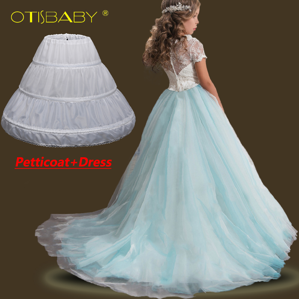 Flower Pageant Girls Dresses Toddler Lace Floral Prom Wedding Dress Girl Princess Tutu Communion Children Long Party Vestidos 2017 fashion summer hot sales kid girls princess dress toddler baby party tutu lace bow flower dresses fashion vestido