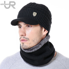 New Warm Winter Hat 1998 Label Beanie Hat High Quality Winter Hats For Men Outdoor Wool Warm Scarf Cap Set Fashion Knitted Hat