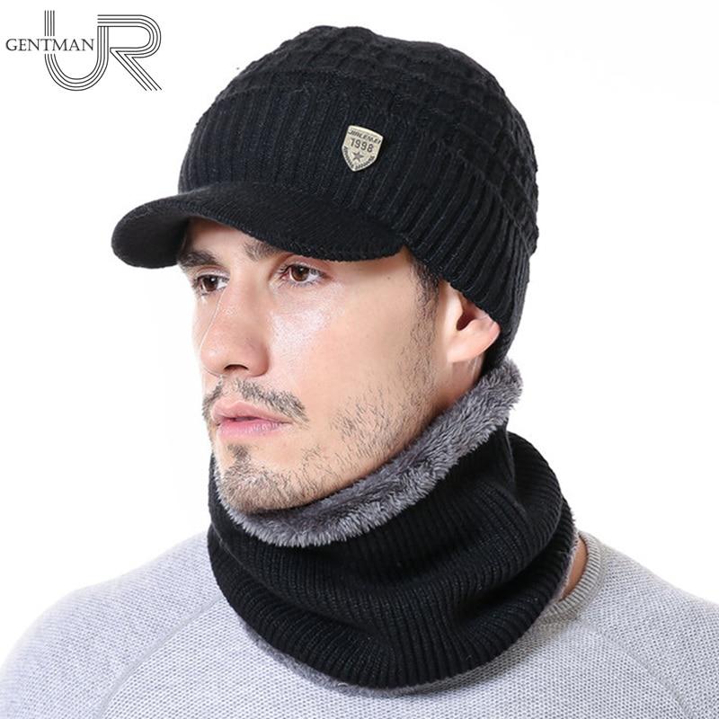 New Warm Winter Hat 1998 Label Skullies Beanies Hats Winter Beanies For Men Women Wool Scarf Cap Set Gorras Bonnet Knitted Hat