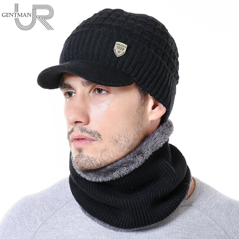 New Warm Winter Hat 1998 Label   Skullies     Beanies   Hats Winter   Beanies   For Men Women Wool Scarf Cap Set Gorras Bonnet Knitted Hat