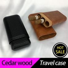 COHIBA cigar humidor travel case 10ct cedar packing box cigar accessories travel humidor