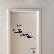 Französisch Salle De Bain Aufkleber Vinyl Wandaufkleber Für Badezimmer Wand  Wandtattoos Wohnkultur Haus Dekoration Wandkunst Tapete